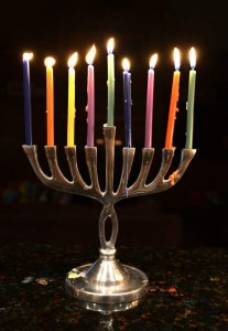 ColorfulLitMenorah