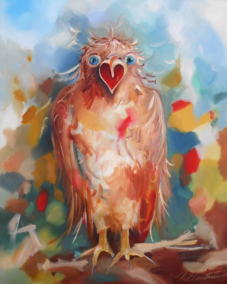 Hawk Oil Painting