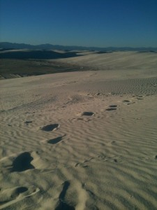 white sands walking