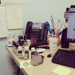 Desk of a former CRC